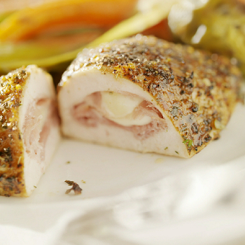 RECIPE: HAM & CHEESE STUFFED CHICKEN BREASTS – Serves 4