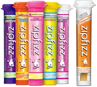 My favorite vitamin, mineral, and electrolyte source: ZIPFIZZ!