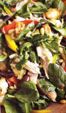 Recipe: Chicken Salad with Peppers and Pine Nuts